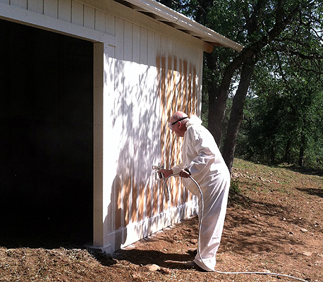 Painting the barn